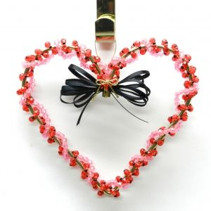 Valentine's Day Craft- Beaded Heart Decoration 14
