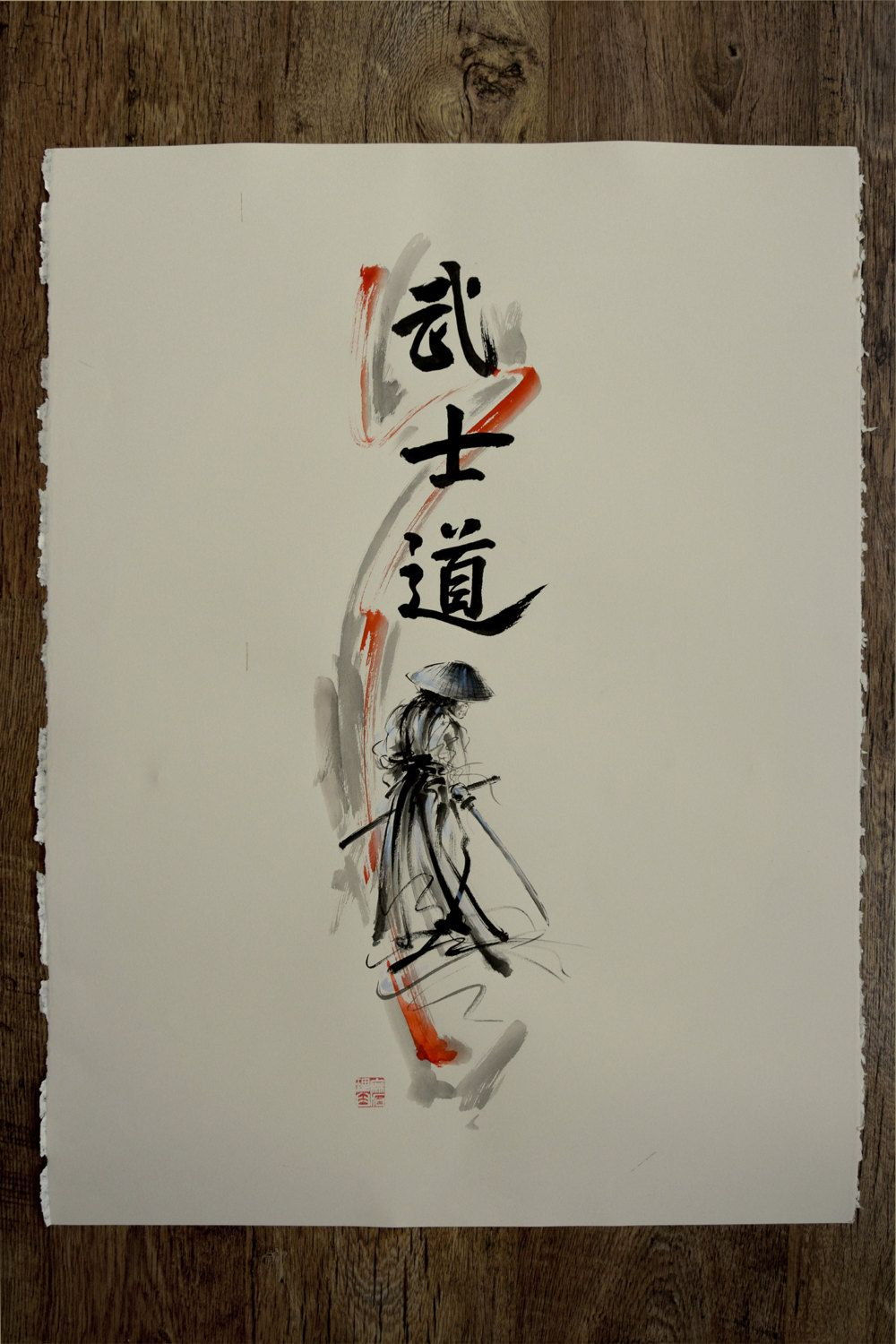 Bushido Way of the Samurai. Modern Abstract Style Painting ...