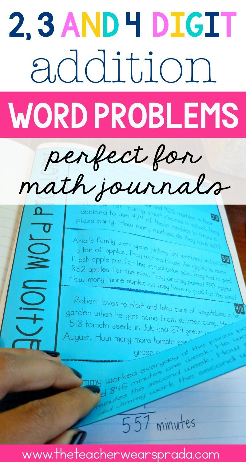 Word Problems Are An Important Part Of My Everyday Math Routine These 3rd Grade Addition Word Problems A Word Problems Math Interactive Notebook Everyday Math