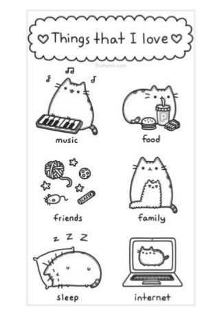 Pusheen Sloth Coloring Pages You'll Love