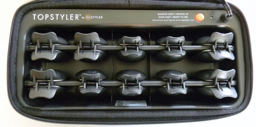 Euc Topstyler Styling Shells By Instyler Heated Ceramic Hair Curlers Case Instyler Hair Curlers Curlers Sturdy