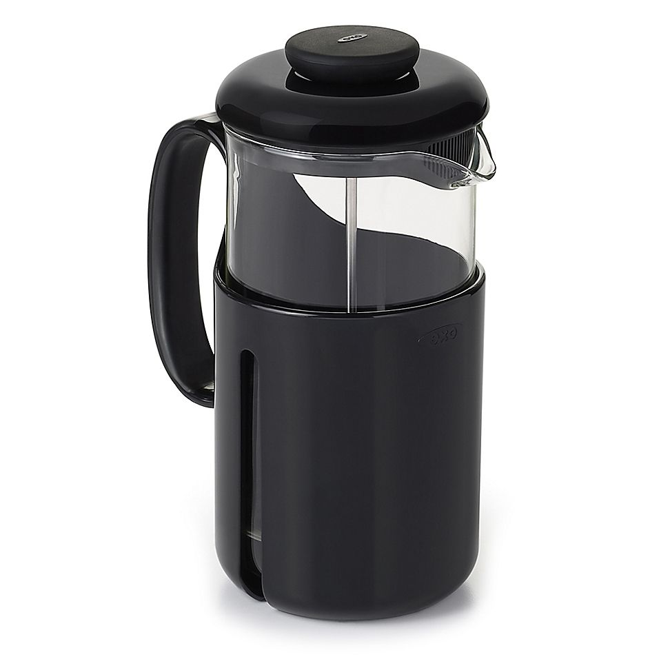 Oxo brew venture 8cup french press coffee maker bed