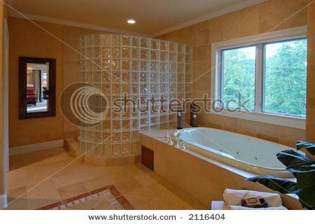 master bath no shower doors to clean!!! | bathroom