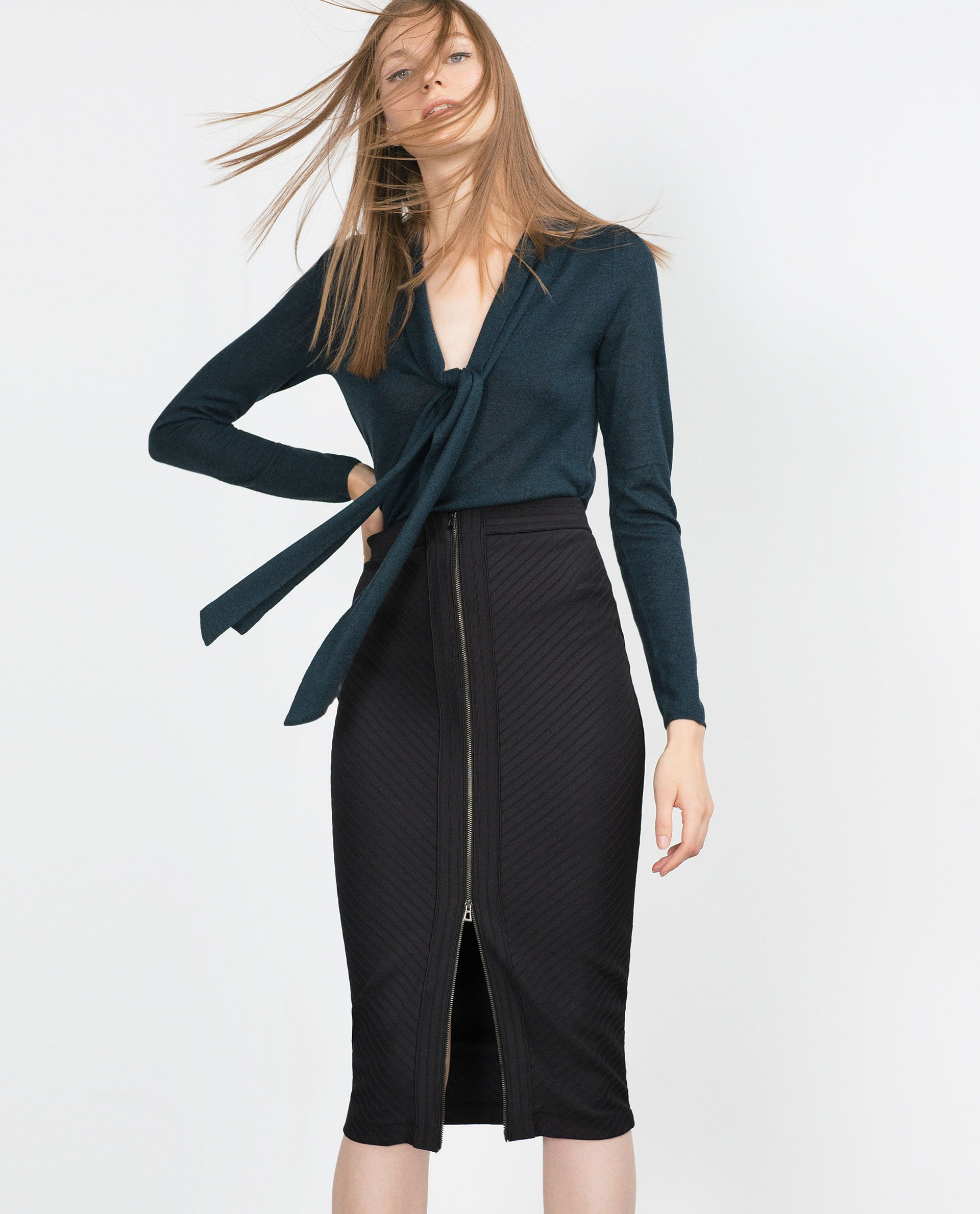 TUBE SKIRT WITH FRONT ZIP - View all - Skirts - WOMAN | ZARA ...