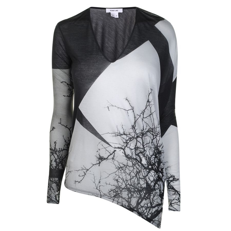 HELMUT LANG  Jersey Tree Print T-Shirt