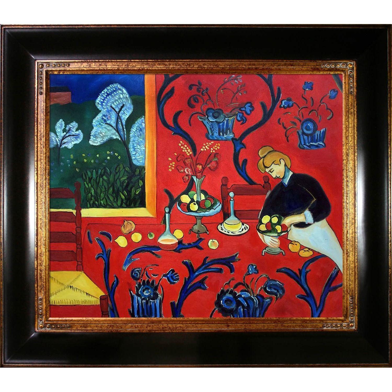 Henri Matisse \'Armonia Rojo \' Hand Painted Framed Canvas Art ...