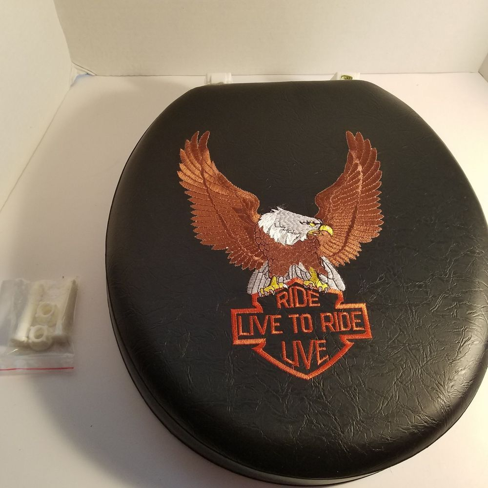 Superb Harley Davidson Black Soft Toilet Seat Cover New In Opened Caraccident5 Cool Chair Designs And Ideas Caraccident5Info
