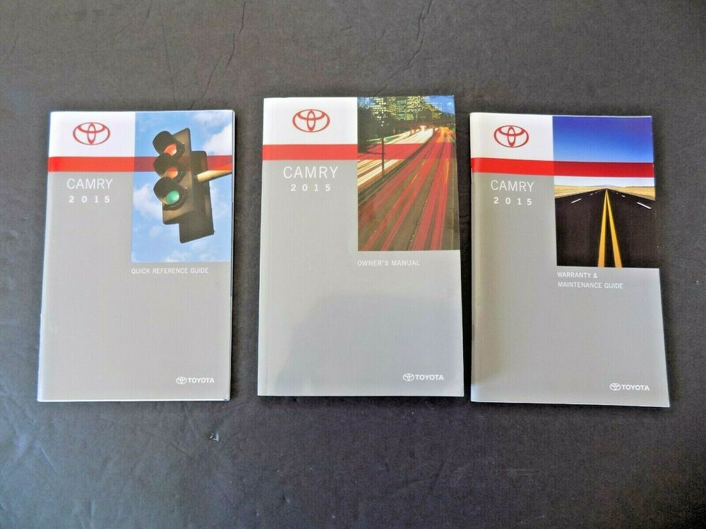 2015 Toyota Camry Owners Manual Maintenance Schedule Quick Guide New Original Ebay 2015 Toyota Camry Toyota Camry Camry