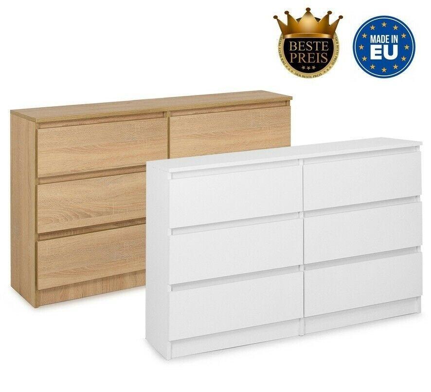 Schone Moderne Kommode Mit 6 Schubladen 120 Cm Sideboard Anrichte Schrank Ebay In 2020 Kommode Modern Kommode Sideboard