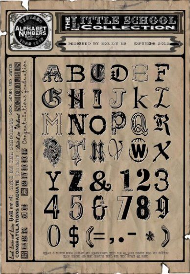 Vintage letters #typography #Fonts