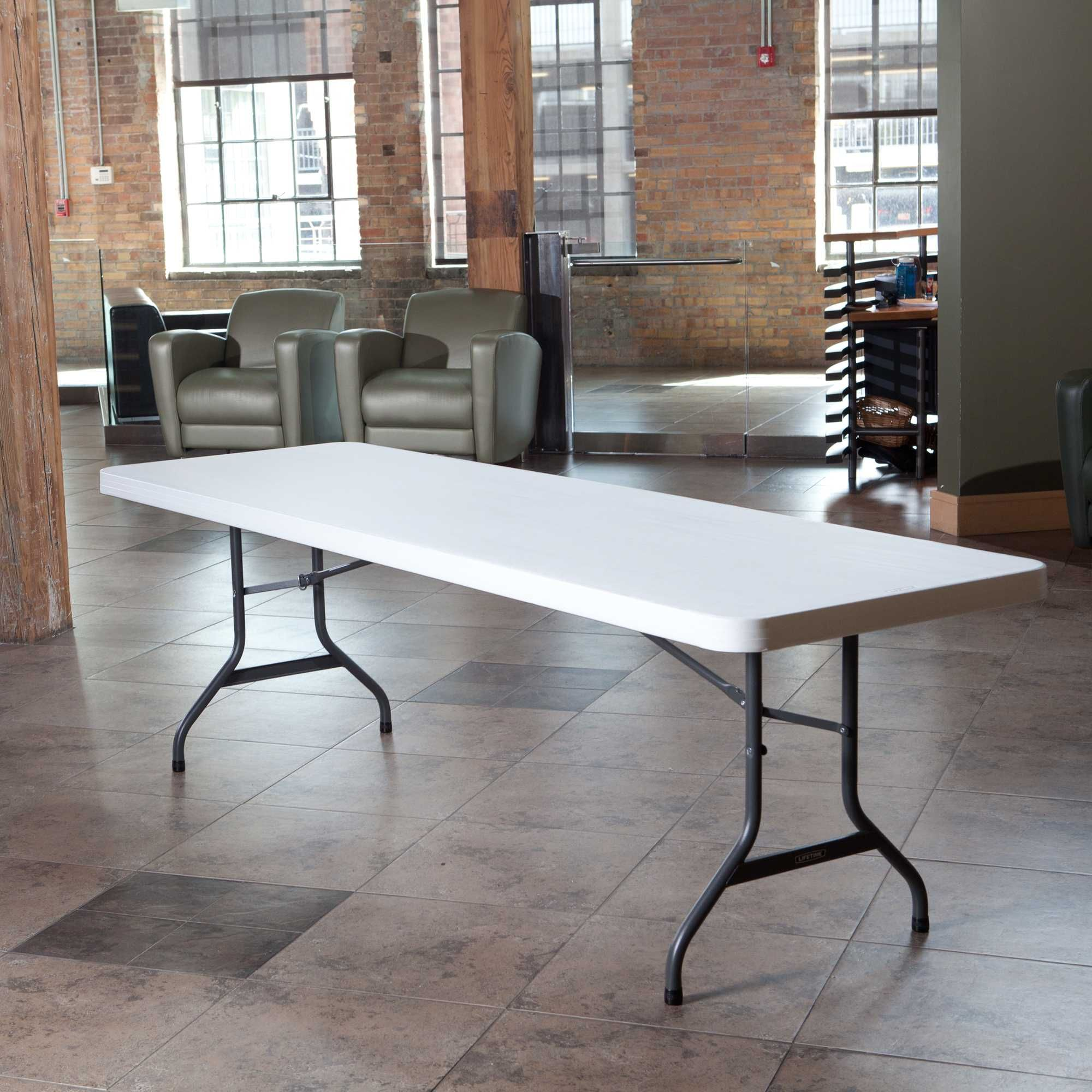 8 ft fold in half table - 2997 Lifetime 8 Foot Commercial Folding Table Features A 96 X 30