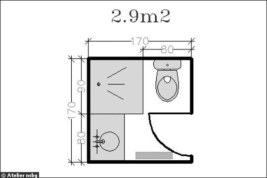 Am nagement petite salle de bains 28 plans pour une for Amenagement salle de bain avec wc