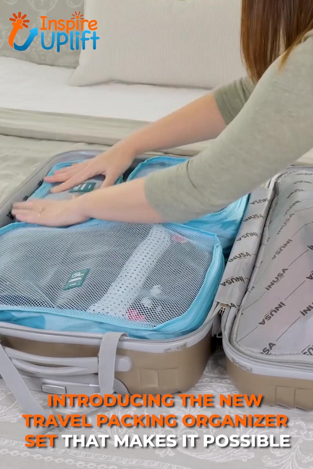Travel Packing Organizer Set 😍 InspireUplift.com