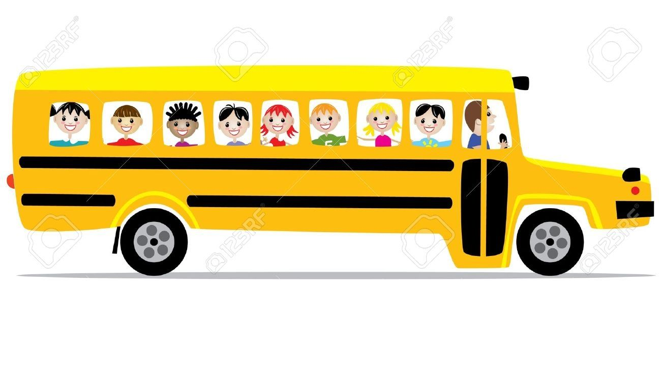 Image Result For Kids In A School Bus Cartoon Bus Cartoon Toy