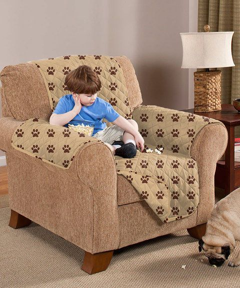 Awesome Paw Print Chair Cover Chair Protector Homeaccents Home Andrewgaddart Wooden Chair Designs For Living Room Andrewgaddartcom