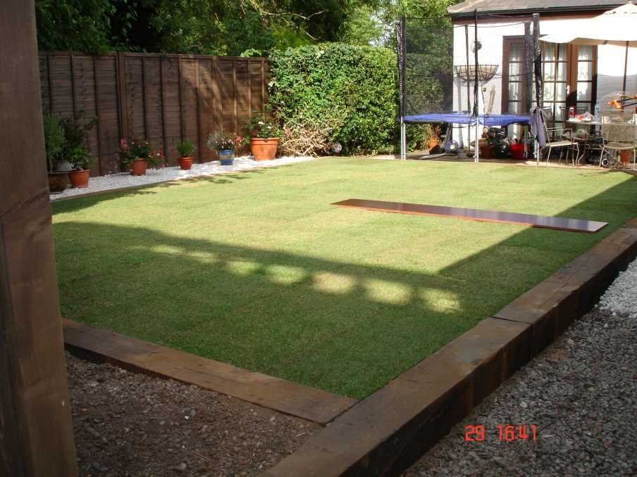 Ali listers landscaping with used oak railway sleepers 6 for Grasses for garden borders
