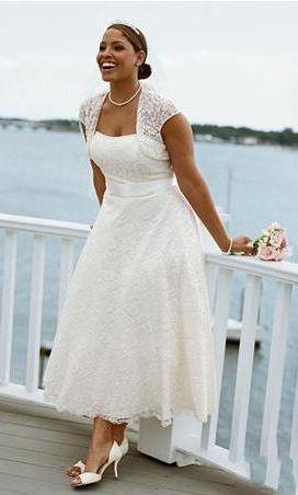 Plus Size Second Wedding Dresses Gowns Por