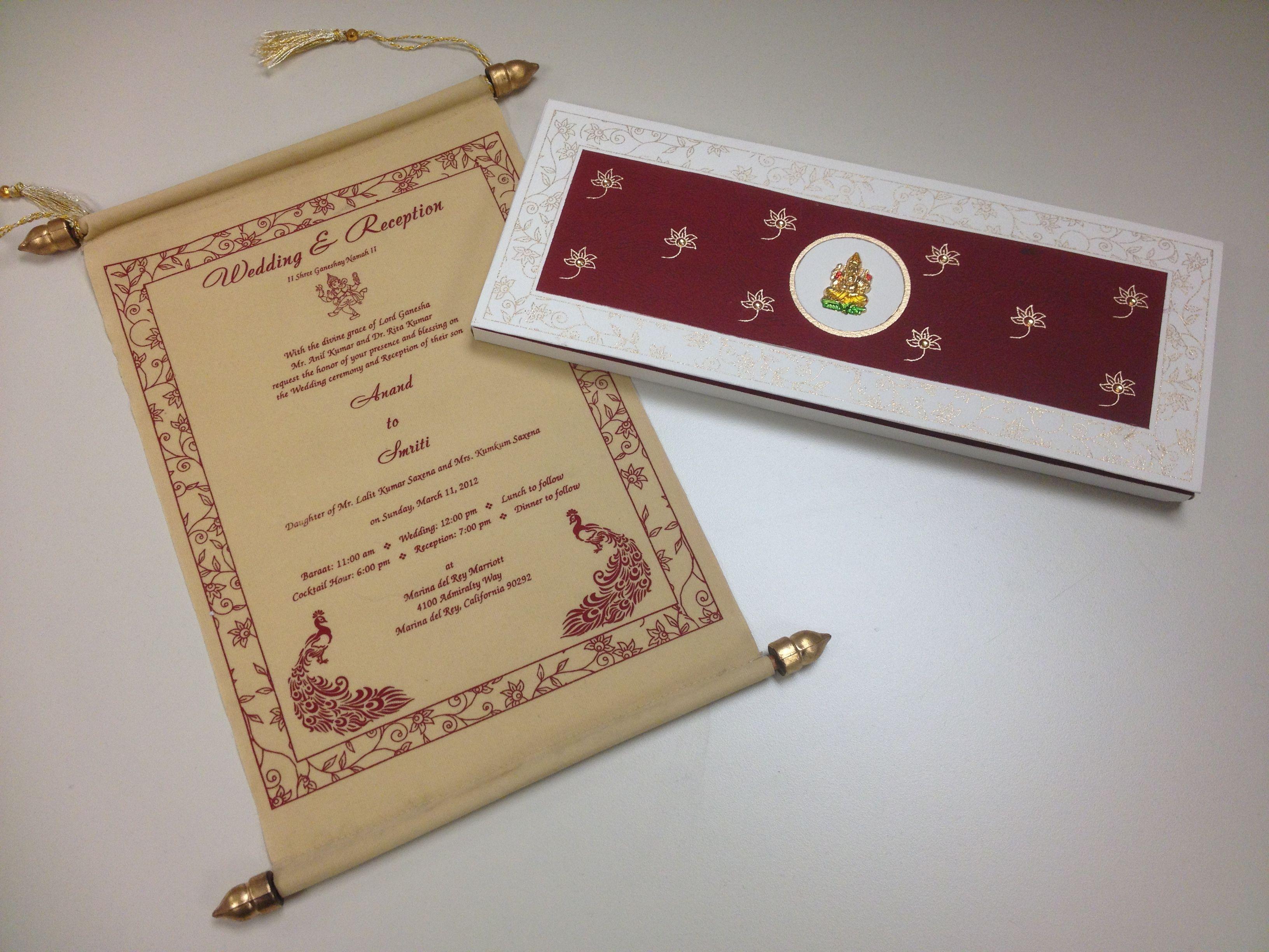 Beautiful Indian Wedding Invite