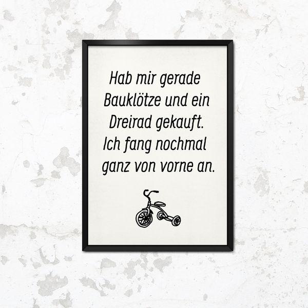 Bauklötze und Dreirad Print A3 von This is it. auf DaWanda.com