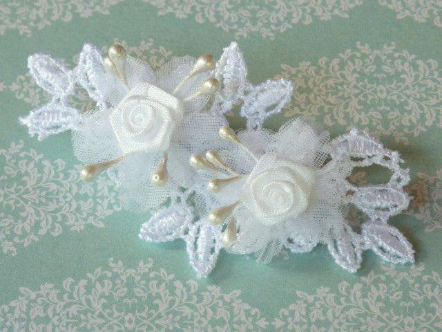 Weiteres -  Haarschmuck  Haarclip  Kommunion Brautmäd. - ein Designerstück von Petras-Welt bei DaWanda