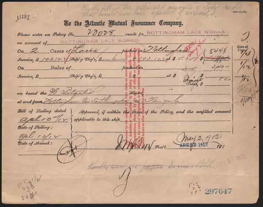 This Document Is An Original Insurance Contract For Some Of The