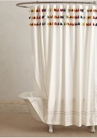 Forbidden [shower Curtain] Love, Or Why I Tied 100 Tassels (and How