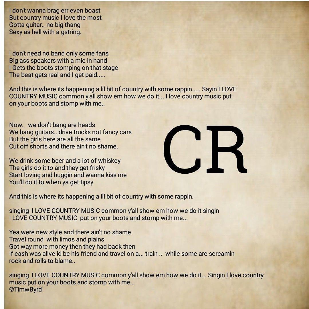 Country rap song written by TimWByrd . Country rap, Rap