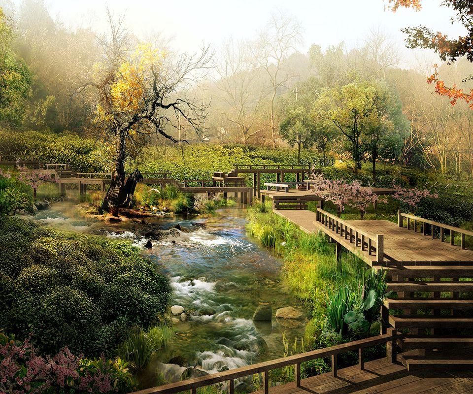 Fond D Ecran Hd Jardin Zen Japanische Landschaft Chinesische Landschaft Landschaftsbau