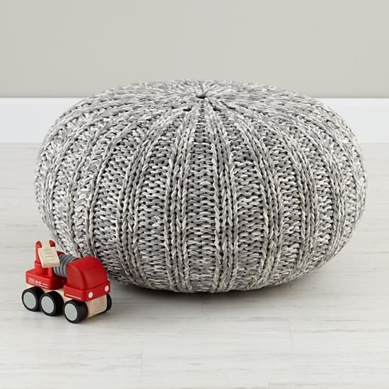 1000 Images About Poufs On Pinterest Floor Pillows Knitted Gray Pouf ...