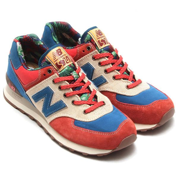 New Balance ML574OHR Botanical Garden Red Men\u0027s Classic Sneaker Limited