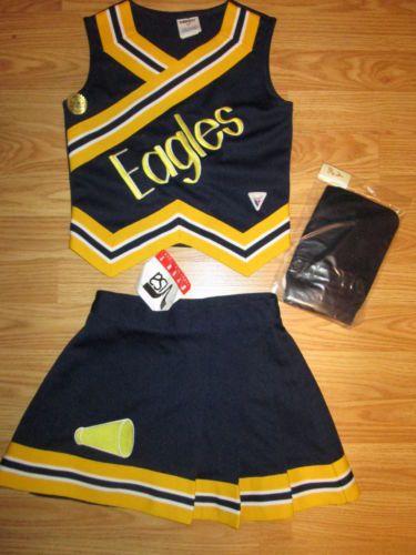 NEW-Girls-EAGLES-Cheerleader-Uniform-Cheer-Outfit-Costume- & NEW-Girls-EAGLES-Cheerleader-Uniform-Cheer-Outfit-Costume-Briefs ...