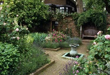 Herb garden, include water and fence in to contain the fragrances.