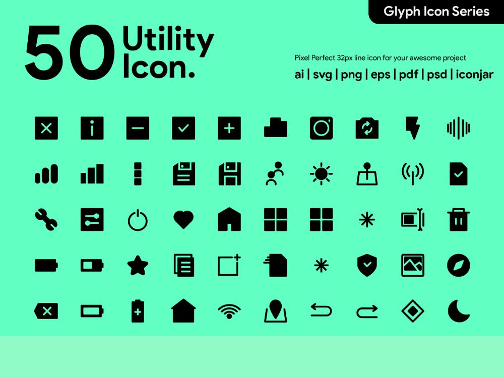 Kawaicon 50 Glyph Utility Icon Glyphs Icon Glyph Icon