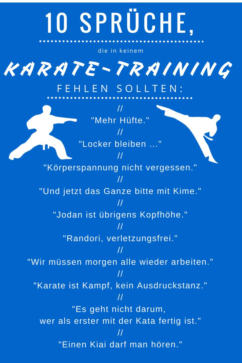10 Sprüche Die In Keinem Karate Training Fehlen Sollten