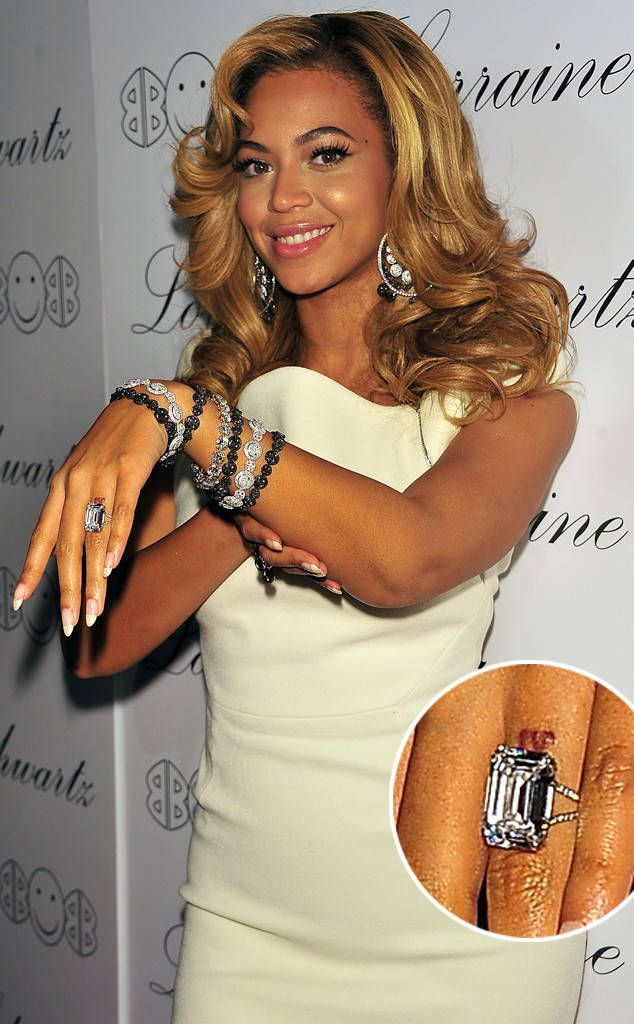 Beyonce from Hollywoods Priciest Engagement Rings Beyonce tattoo