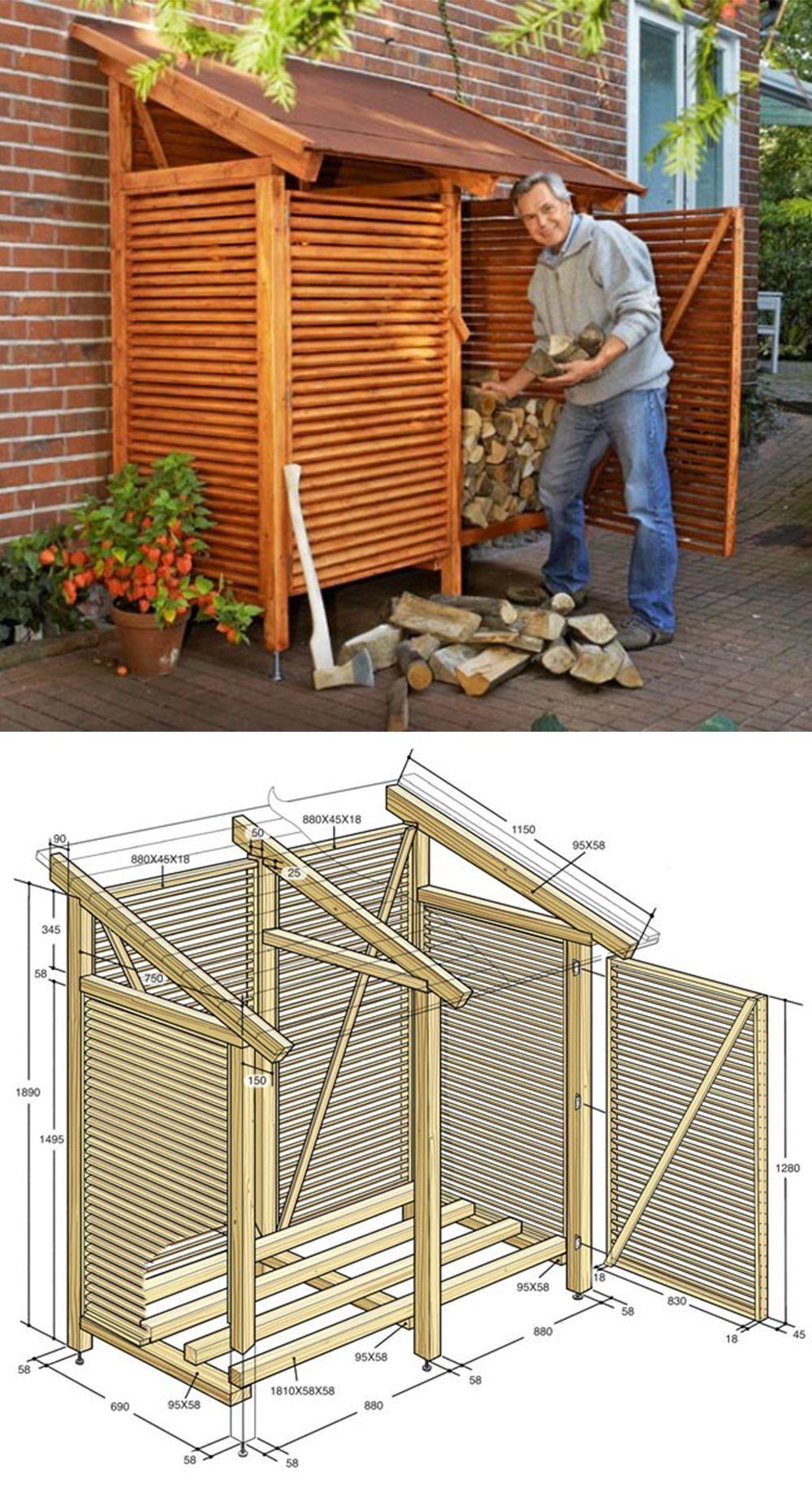 Pin auf Holzunterstand selber bauen