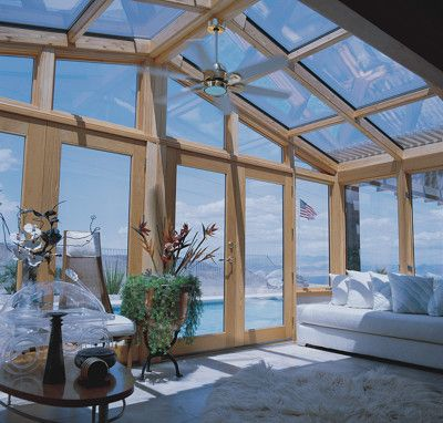 Glass Cathedral Roofed Sunrooms Or Solariums With Wood Interior Sunroom Designs Glass House Glass Roof
