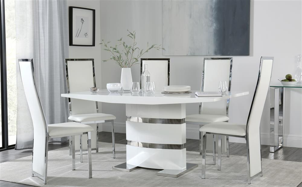 25++ White dining table and 6 black chairs Trend