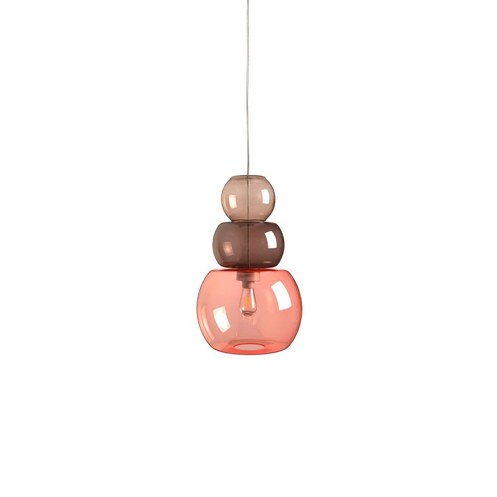 £150 Introduce soft tones to an interior setting with this Candyofnie Ceiling Light from Fatboy. The eye-catching design is inspired by handmade necklaces, with three beads forming the light diffuser to cr