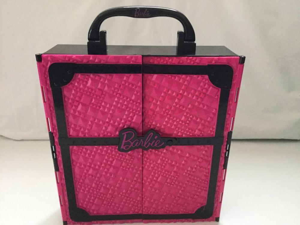 FASHIONISTA Barbie Doll Storage Case Pink U0026 Black   MATTEL 2011 #Mattel  #Accessories