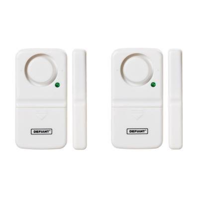 Defiant Wireless Home Security Door Window Alarm 2 Pack