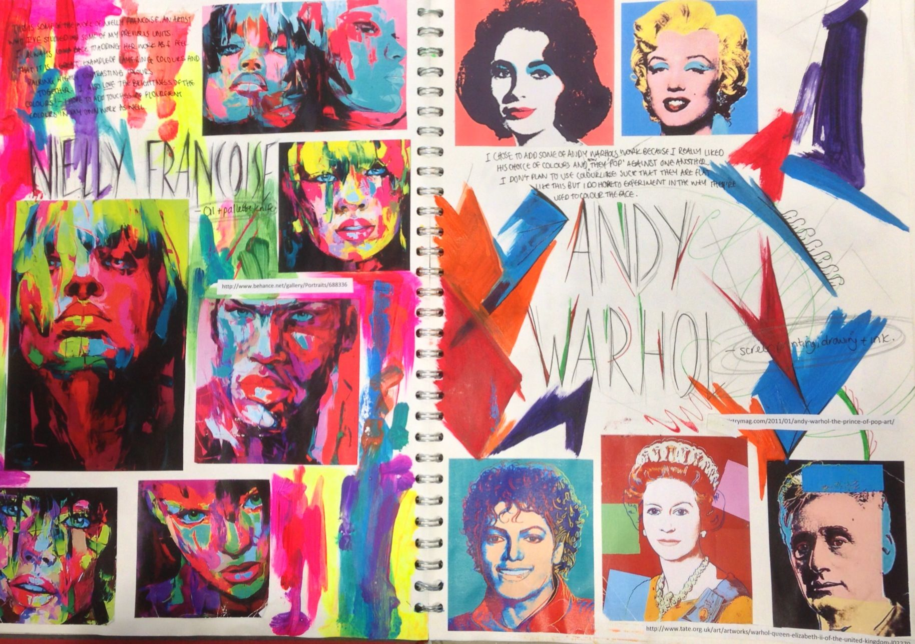 I Like The Bright Colours And Andy Warhol Style And The Fact That They Ve Created They Re Own Pop Art Images As Well Pop Art Pop Art Design Gcse Art Sketchbook