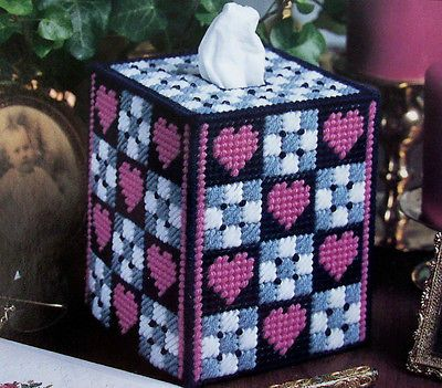Plastic canvas Kleenex box holder.