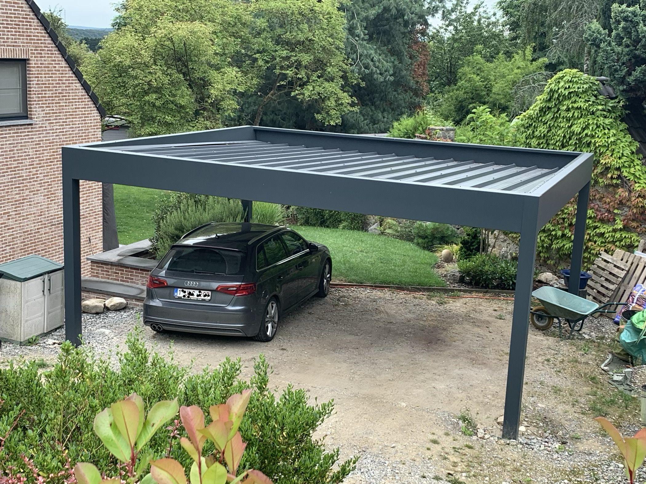 Carport Aluminium Carport ideeën, Hout buitenkant huis