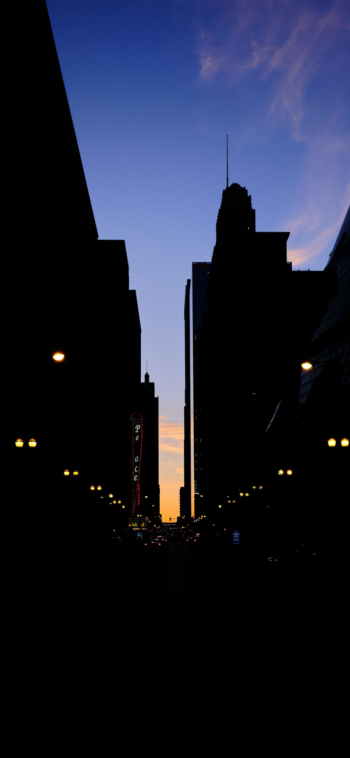 1125x2436 City Street Dark Buildings Silhouette Wallpaper Dark Wallpaper Cityscape Wallpaper City Wallpaper