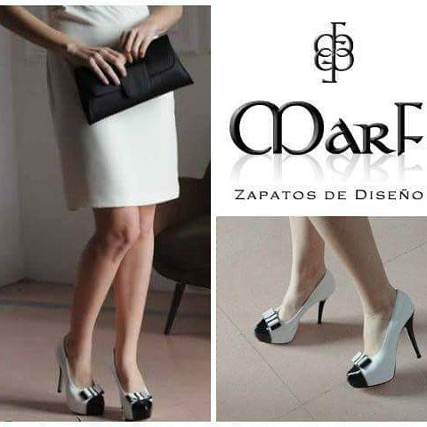 MarF Zapatos - Modelo París cuero Blanco y Charol Negro #ILoveMarf #MarfFifteen #marfnovias #iloveshoes #luxuryshoes