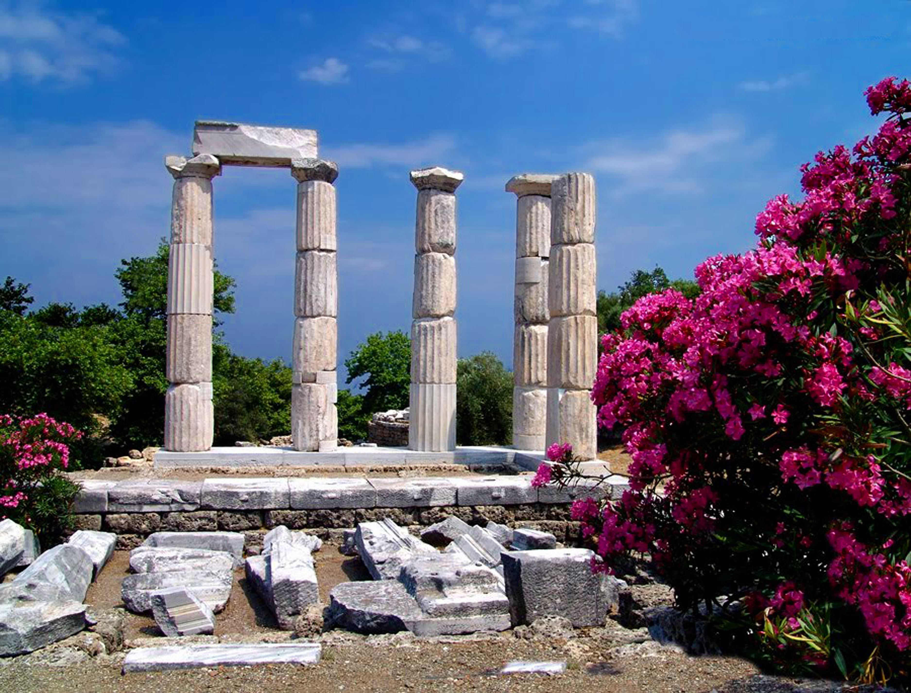 Beautiful pictures of gods and their temple - Temple Of The Great Gods Samothrace Island Greece