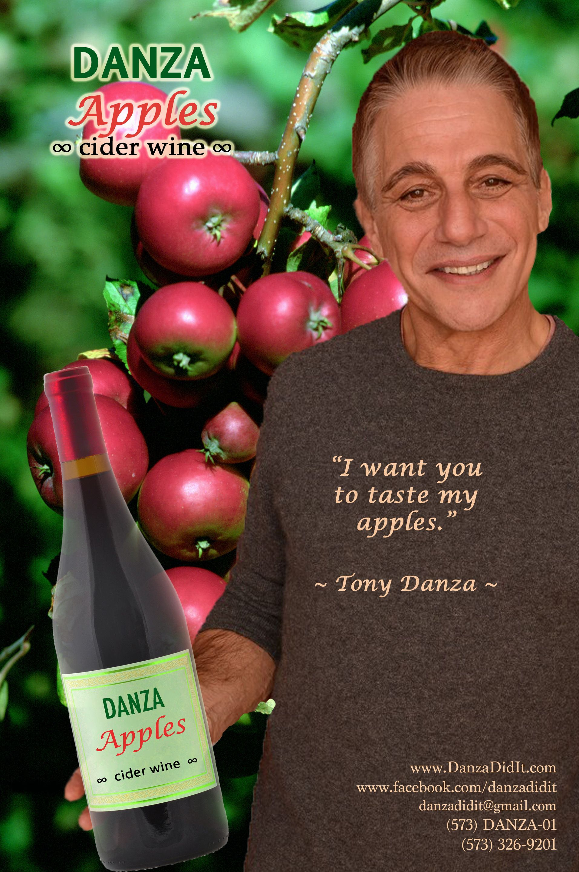 The Taste Of Sin Just Got Whole Lot Tastier Take A Visit To The Garden Of Eden With A Sip Of Danza Apples Cider Wine I Want Y Tony Danza