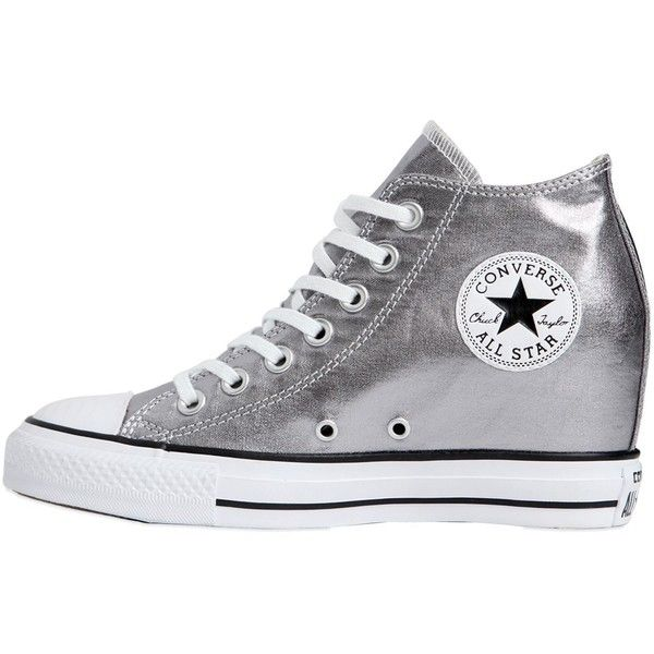 db44290bd4ed Converse Women 80mm All Star Metallic Canvas Sneakers ( 155) ❤ liked on  Polyvore featuring shoes
