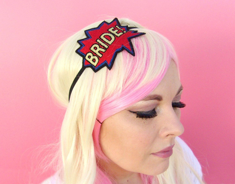 Engagement Gift Headband - Bridal Hair Accessories - Comic Book ...